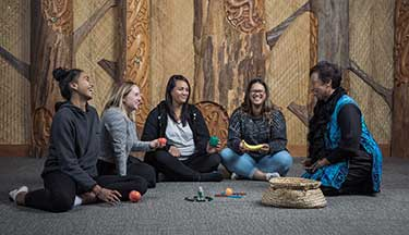 Students on a te reo course, learning to speak Maori