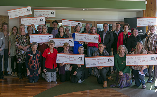 Recipients of the money raised in Toi Ohomai's Charity House Project