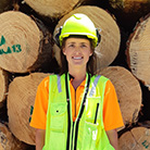 Georgia Paulson graduated with a Diploma in Forest Management in April and loves her job as a Harvest Forester