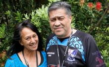 Marg Apiti and Matu Pene received the Chief Executive - Student Choice award at Toi Ohomai's Christmas lunch
