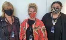 Toi Ohomai tutors wear face masks created by students