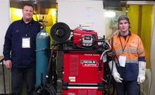 Bruce McQueen (left) has been training Andrew Champion for the WorldSkills competition in Abu Dhabi